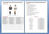 Job Interview Activity (Intermediate level)