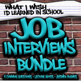 Job Interview Bundle - NO PREP lesson plans, distance learning - SPED HS