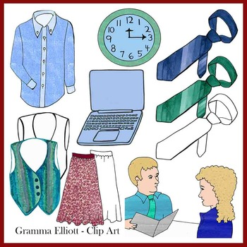 Career Counseling Job Interview Realistic Clip Art