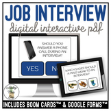 Job Interview Digital Interactive Activity Career Vocation Skills