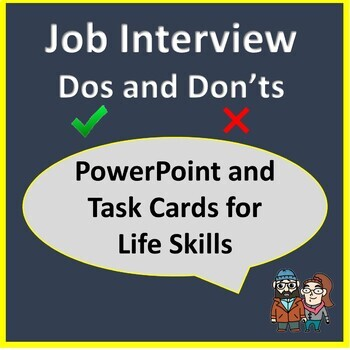 Job Interview Dos and Don'ts - Life Skills PowerPoint for Adults with ASD