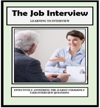 JOB INTERVIEW, INTERVIEWING, Employment, Vocational, Career Exploration
