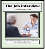 JOB INTERVIEW, INTERVIEWING, Employment, Vocational, Career Exploration
