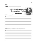 Job Interview Question Preparation Packet