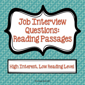 Job Interview Questions: Reading Passages