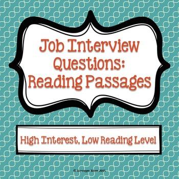 Job Interview Questions: Reading Passages