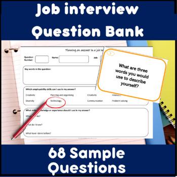 Employability skills - Job interview task card questions