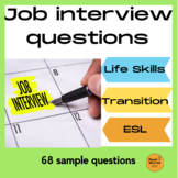 Job interview questions for high school and life skills / vocational learners