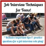 Job Interview Skills Preparation for Teens