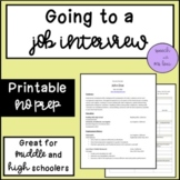 Going to a Job Interview: A Social Script