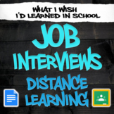 Job Interview Unit - Distance Learning/Independent Study -