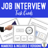 Job Interview Vocational Task Clip Cards with Visuals Life Social Skills