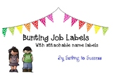 Job Labels Bunting Theme