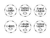 Classroom Job Board - Monkey Themed Labels