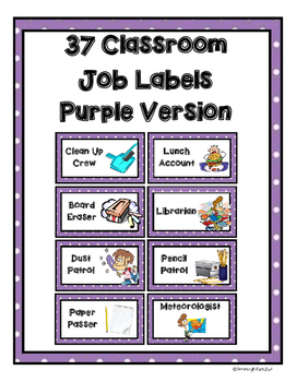 Job Labels - Purple Version
