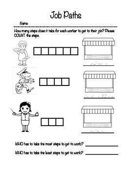Jobs Worksheet For Kindergarten