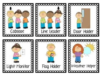 It is a picture of Sassy Free Printable Preschool Job Chart Pictures