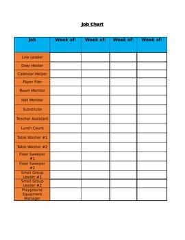 Job Recording Chart (Editable)
