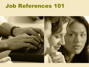 Job References 101 Lesson