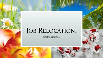 Job Relocation:  What To Consider Lesson
