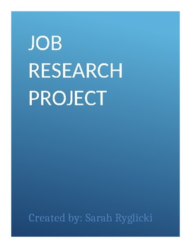 Job Research Project