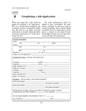 Job Search: Applying for a Job-Completing a Job Application