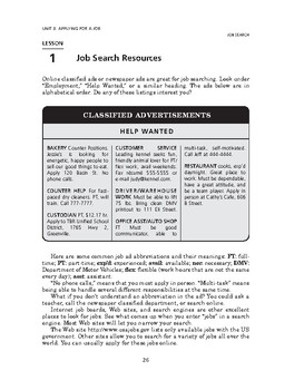 Job Search: Applying for a Job-Job Search Resources