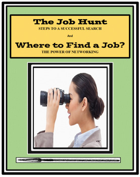 Career Lessons, JOB SEARCH , NETWORKING, Vocational Lessons, Employment