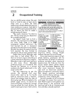 Job Search: Occupational Training-Occupational Training