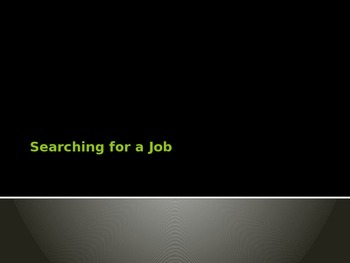 Job Search PowerPoint