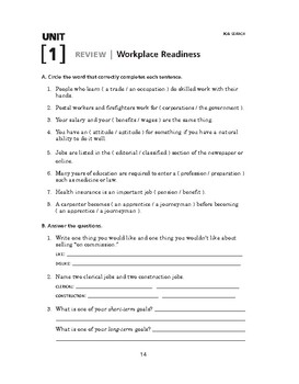 Job Search: Workplace Readiness-REVIEW