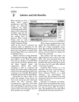 Job Search: Workplace Readiness-Salaries and Job Benefits