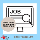 Job Search and Interview Reflection Worksheets for High School