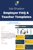 Job Shadow Employer FAQ Infographic & Email Letter Templates