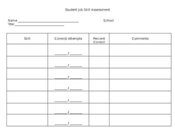 Job Skill Assessment Form
