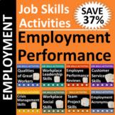 Job Skills Activities: Employment Performance BUNDLE