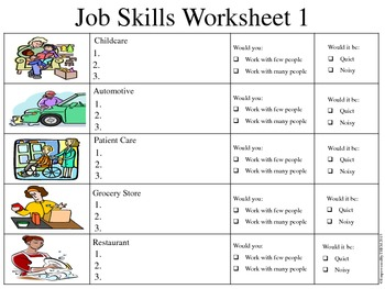 worksheet 3 employability skills self assessment Use self-assessment and reflection to develop awareness of their  did learning  about the salary, education requirements and employment outlook make  ask  students to share their answers with a partner to help them identify any skills they.