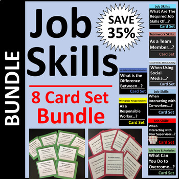 Job Skills Card Set BUNDLE