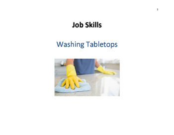 Job Skills - Cleaning Table Tops