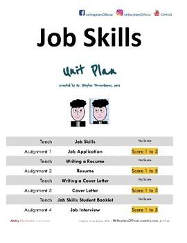 Job Skills Course: Ability Movement Curriculum