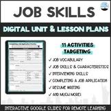 Job Skills: Digital Unit & Lesson Plans