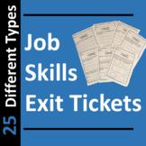Job Skills Exit Tickets or Slips