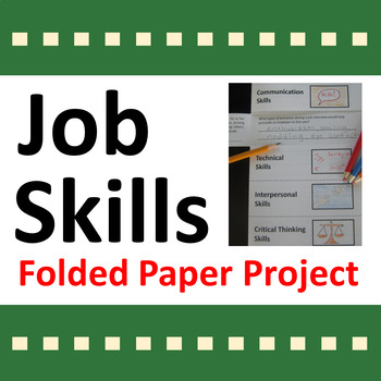 Job Skills Folded Paper Project Activity