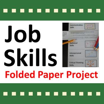 Job Skills Folded Paper Project