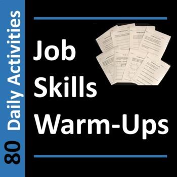 Job Skills WarmUps or Bell Ringer Activities