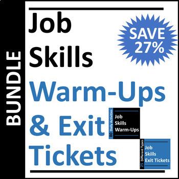 Job Skills Warm-Up and Exit Ticket BUNDLE