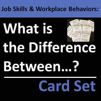 Job Skills & Workplace Behaviors Group Activity / Card Set