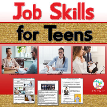 Job Skills and Employment Readiness For Teens {Real Photos-No Prep}