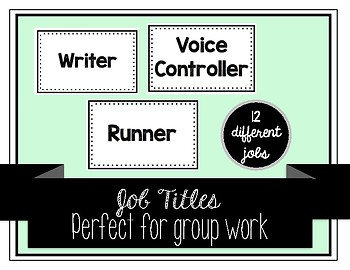 Job Titles for Group Work