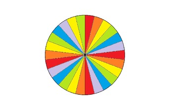Job Wheel 26 Students - Rainbow Color